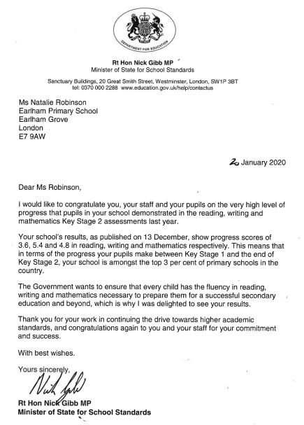 Letter from Sec of State